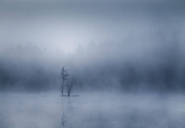 Misty Photograph - The Tiny Island by Andreas Christensen