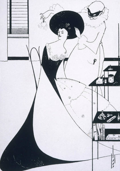 Beardsley Drawing - The Toilette Of Salome (second Version) by Mary Evans Picture Library