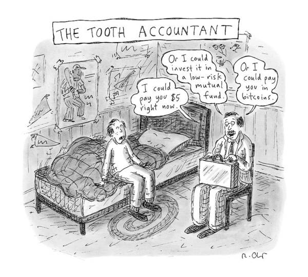 Money Drawing - The Tooth Accountant -- An Accountant Advices by Roz Chast