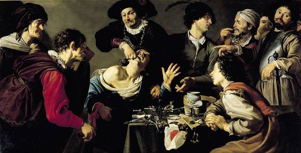 Dentistry Wall Art - Photograph - The Tooth Extractor, 1635 Oil On Canvas by Theodor Rombouts