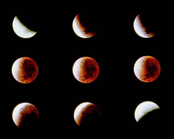 Wall Art - Photograph - The Total Lunar Eclipse Of November 29 1993 by Rev. Ronald Royer/science Photo Library