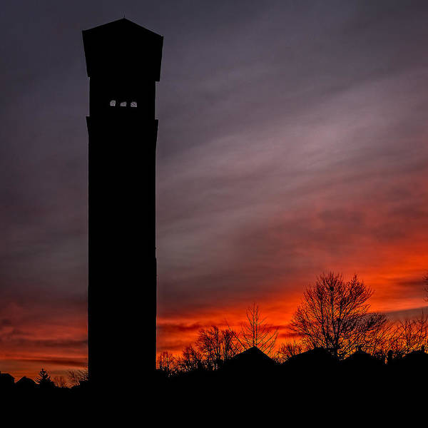 Photograph - The Tower @ Dawn - Square Silhouette by Chris Bordeleau