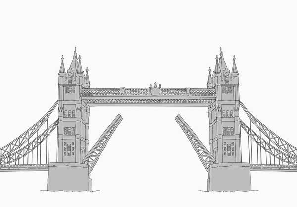 Exterior Digital Art - The Tower Bridge by Malte Mueller
