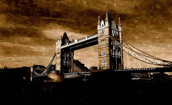 Painting - The Tower Bridge Of London by Florian Rodarte