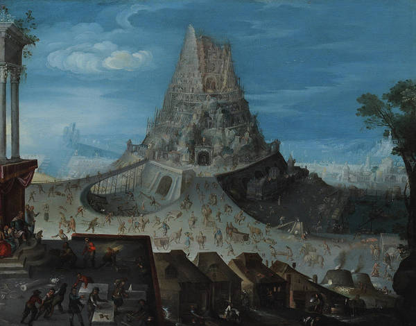 Construction Painting - The Tower Of Babel by Hendrick van Cleve