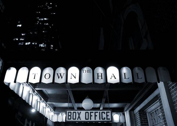 Photograph - The Town Hall Box Office by Dan Sproul