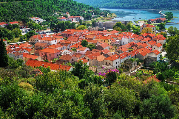 Wall Art - Photograph - The Town Of Ston From The Great Wall by Russ Bishop