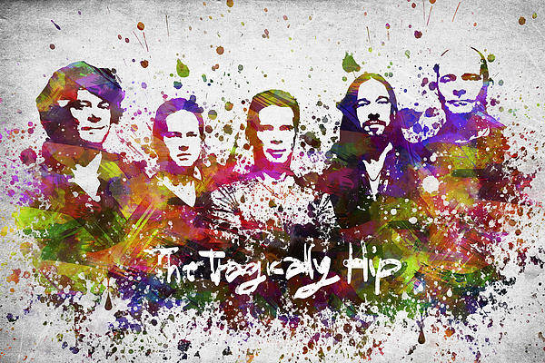 Wall Art - Digital Art - The Tragically Hip In Color by Aged Pixel