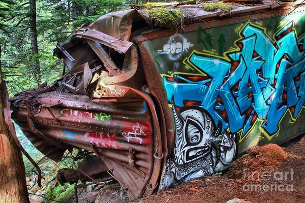 Train Derailment Photograph - The Train And The Tree by Adam Jewell