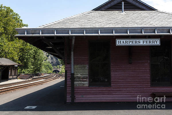 Photograph - The Train Station At Harpers Ferry In West Virginia by William Kuta