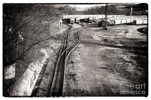 Photograph - The Train Yard by John Rizzuto