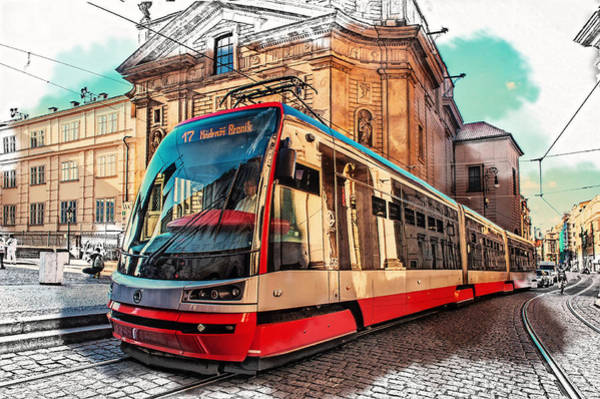 Photograph - The Tram Of Wishes. Prague by Jenny Rainbow