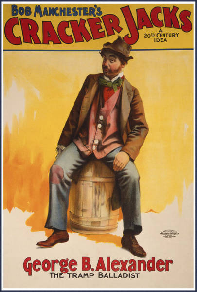 Barrels Drawing - The Tramp Balladist by Aged Pixel