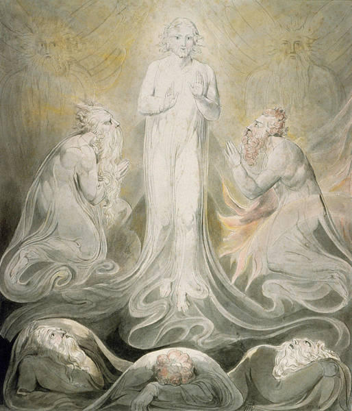Biblical Photograph - The Transfiguration by William Blake