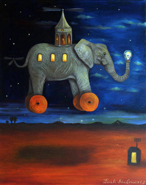 Painting - The Traveler  by Leah Saulnier The Painting Maniac