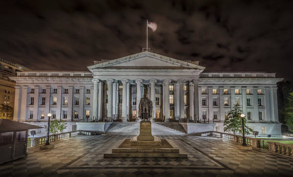 Greek Revival Architecture Photograph - The Treasury Department by David Morefield