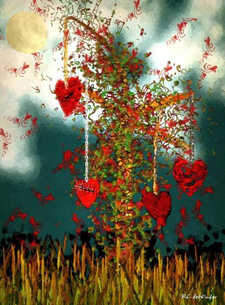 Painting - The Tree Of Hearts by RC DeWinter