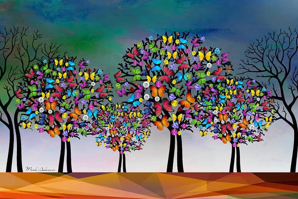 Wall Art - Digital Art - The Trees  by Mark Ashkenazi