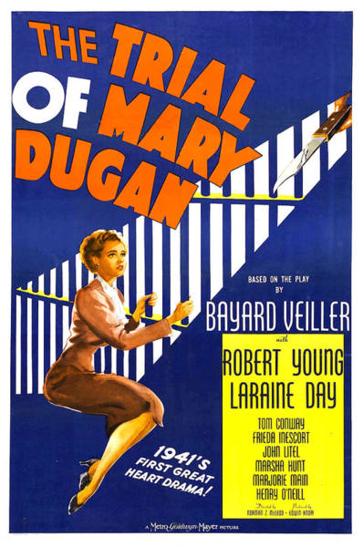 Wall Art - Photograph - The Trial Of Mary Dugan, Us Poster by Everett