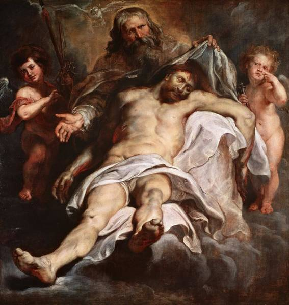 Wall Art - Painting - The Trinity by Peter Paul Rubens