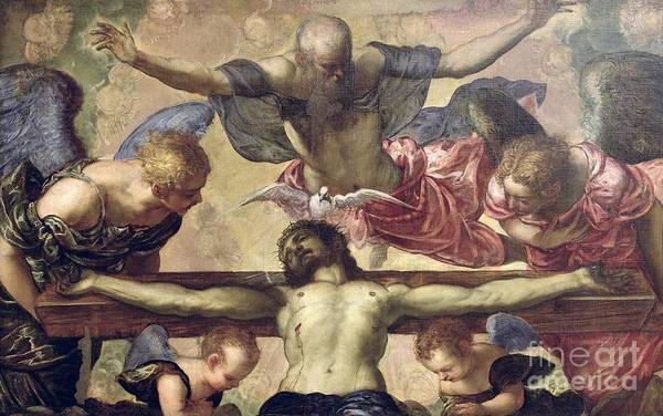 Church Of The Cross Painting - The Trinity by Tintoretto