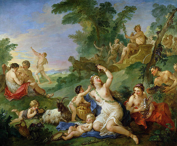 The Triumph Of Bacchus Oil On Canvas Art Print