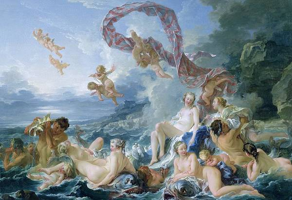 Goddess Of Love Wall Art - Painting - The Triumph Of Venus by Francois Boucher