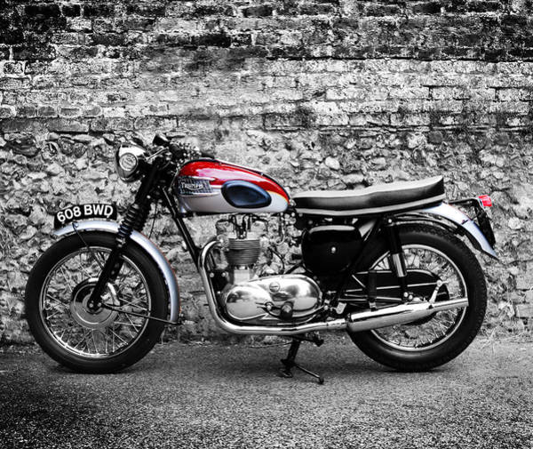 Triumph Motorcycle Wall Art - Photograph - The Triumph Trophy by Mark Rogan