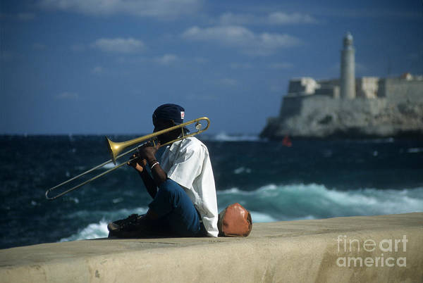Photograph - The Trombonist by James Brunker