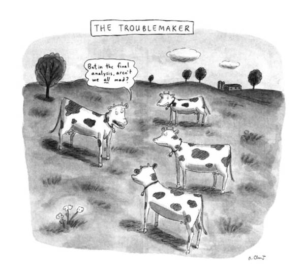 Meat Drawing - The Troublemaker by Roz Chast