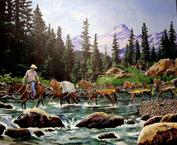 Painting - the Troutfitter by Tim  Joyner
