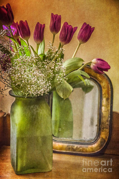 Photograph - The Tulips Stand Arrayed - A Still Life by Terry Rowe