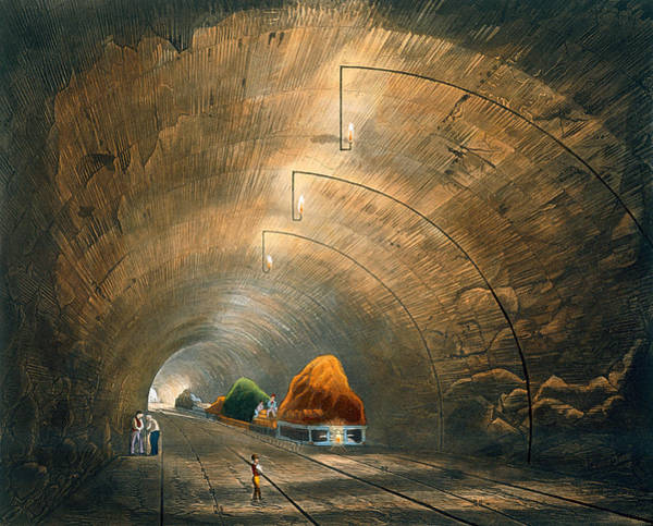 Building Drawing - The Tunnel, From Coloured View by Thomas Talbot Bury
