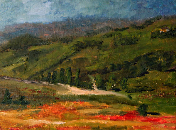 Painting - The Tuscan Hills by Michael Helfen