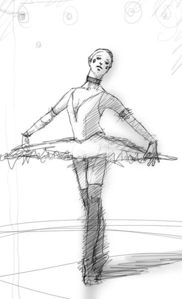 Wall Art - Drawing - the Tutu by H James Hoff