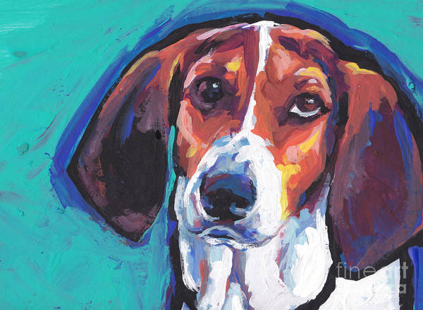 Wall Art - Painting - The Tw Coonhound by Lea S