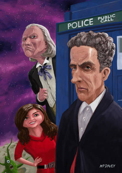 Painting - The Twelfth Doctor Who by Martin Davey