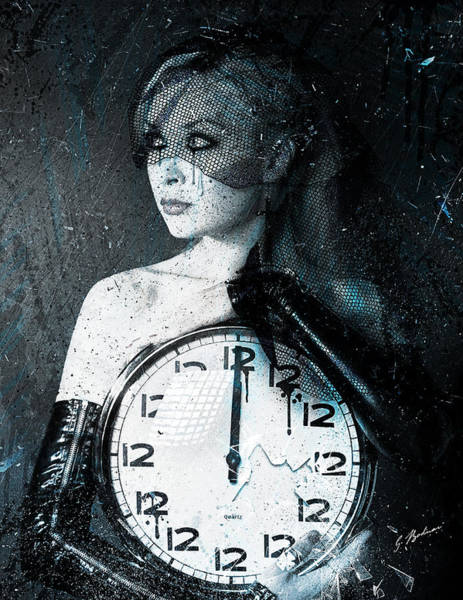 Sad Digital Art - The Twelfth Hour by Gary Bodnar