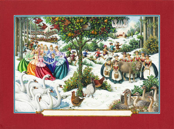 The Twelve Days Of Christmas Art Print