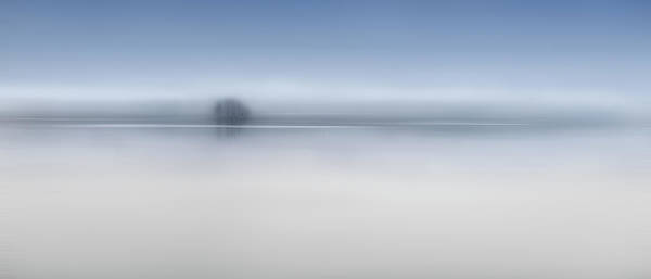 Minimalistic Photograph - The Twilight River by Shenshen Dou