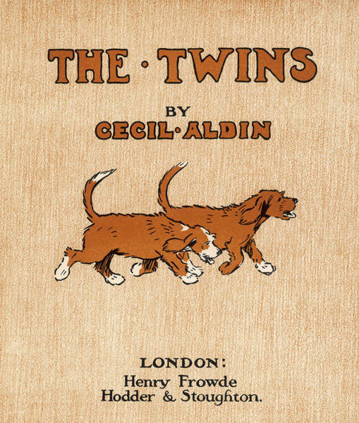 Wall Art - Drawing - The Twin Dogs Of The Title, Looking by Mary Evans Picture Library