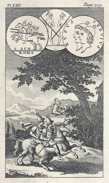 Wall Art - Drawing - The Twin Sons Of Zeus And  Leda, Known by Mary Evans Picture Library