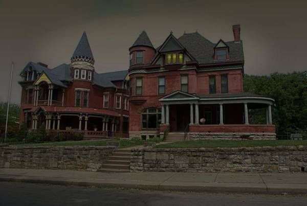 Photograph - The Two Sisters Haunted House by Tim McCullough