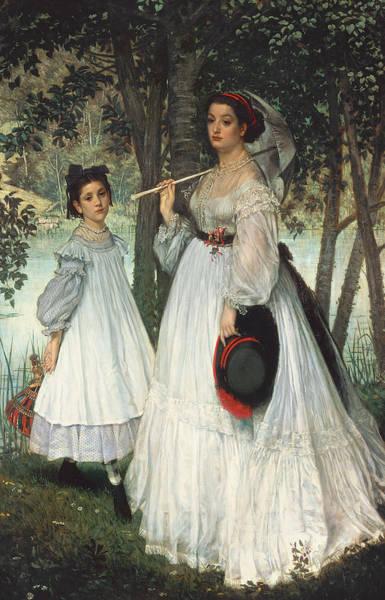 Photograph - The Two Sisters Portrait, 1863 Oil On Canvas by James Jacques Joseph Tissot