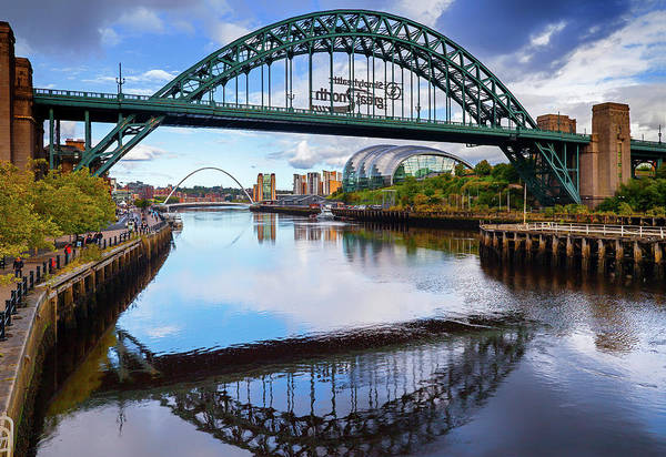 Millenium Photograph - The Tyne Road Bridge With The Sage by Panoramic Images