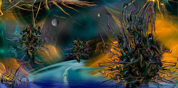 Fractal Landscape Digital Art - The Uber...night Passage by Phil Sadler