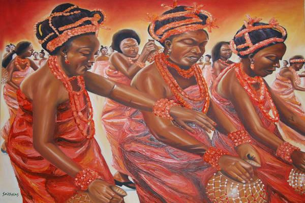 Nigeria Painting - The Uho Dance by Olaoluwa Smith