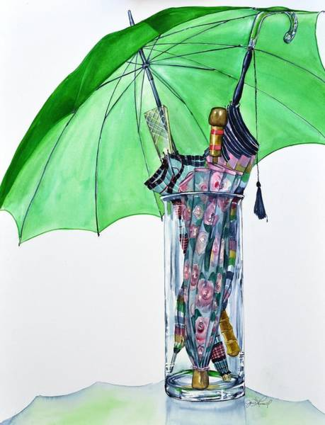 Painting - The Umbrella Plan by Jane Loveall