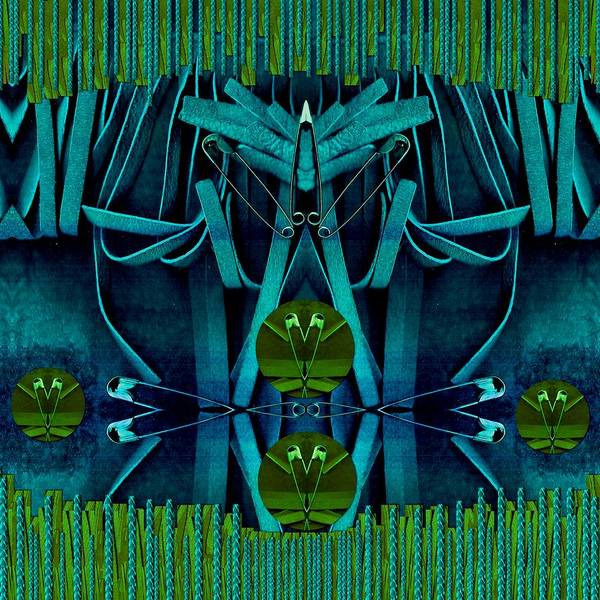 Sacred Heart Mixed Media - The Under Water Temple by Pepita Selles