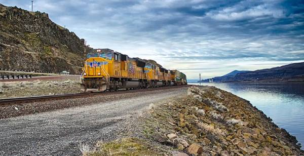 Photograph - The Union Pacific Railroad Columbia River Gorge Oregon by Michael Rogers
